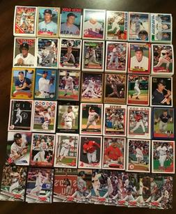 1982-2018 BOSTON RED SOX Topps Complete Team Sets  CLEMENS-O