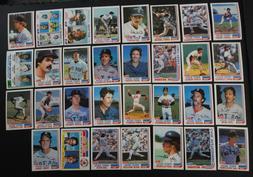 1982 Topps Boston Red Sox Team Set of 31 Baseball Cards