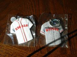 2-MLB Boston Red Sox Jersey Key Ring Chains Pepsi Sponsored.
