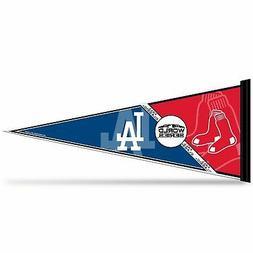 2018 MLB World Series Dueling Pennant Boston Red Sox Los Ang