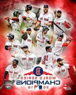 2018 WORLD SERIES Boston Red Sox team LICENSED picture poste