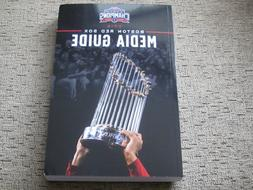 2019 Boston Red Sox Media Guide & Schedule World Series Cham