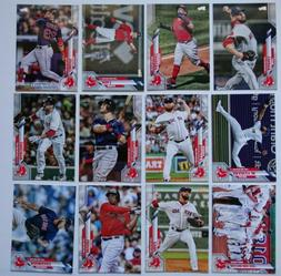 2020 Topps Series 1 Boston Red Sox Base Team Set of 12 Baseb