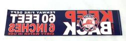 Boston Fire Dept Fenway House Bumper Sticker Decal 10x3 Red