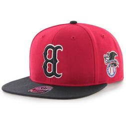 Boston Red Sox 47 Brand 1975 Style RED Flat Brim Men's Wool-