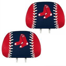 Boston Red Sox 2-Pack Color Print Auto Car Truck Headrest Co