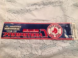 BOSTON RED SOX 2004 AL CHAMPIONS BUMPER STICKER DECAL MLB WI