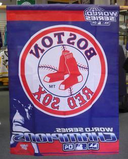 Boston Red Sox 2004 World Series Champions Vertical Flag Ban