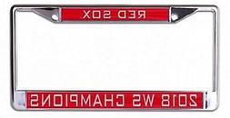 Boston Red Sox 2018 Champions Laser Frame Chrome Metal Licen