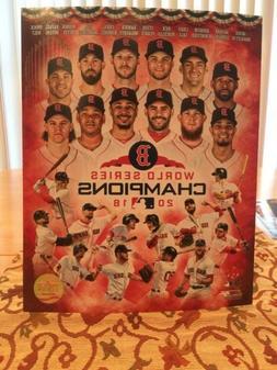 Boston Red Sox 2018 World Series Champion 8x10 Photo Team Pi