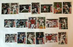 Boston Red Sox 2020 Topps Series 1 & 2 Base Team Set *19 car