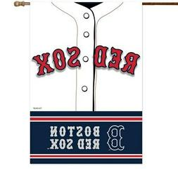 """Boston Red Sox 29"""" x 43"""" Double-Sided Jersey Foil House Flag"""