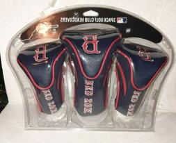 Boston Red Sox 3 Pack Golf Club Covers Factory Sealed