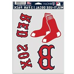 BOSTON RED SOX 3 PIECE MULTI-USE DECAL FAN PACK MLB LICENSED