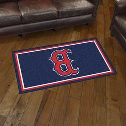 Boston Red Sox 3' X 5' Decorative Ultra Plush Carpet Area Ru