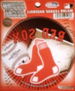 "Boston Red Sox 4"" Round Decal Bumper Sticker Emblem Baseball"