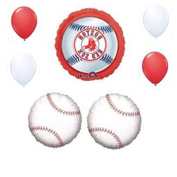 Boston Red Sox 7 Piece Balloon Bouquet Birthday Party Decora