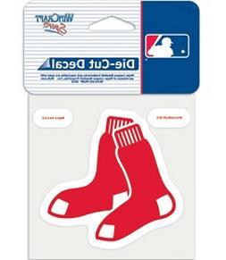 "Boston Red Sox 8""x8"" Die-Cut Auto Decal  MLB Car Sticker Emb"