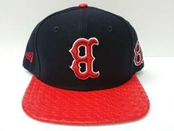 Boston Red Sox New Era 9Fifty Cap Flat Brim Snapback Visor L