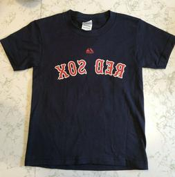 Boston Red Sox Adrian Gonzalez #28 Men's Majestic Navy T-Shi