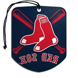 Boston Red Sox Air Freshener Shield Design 2 Pack