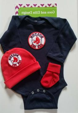 Boston Red Sox baby boy 3 pc outfit Red sox baby clothes boy