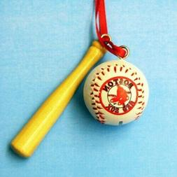 Boston Red Sox Ball and Bat Ornament BRAND NEW Free Shipping