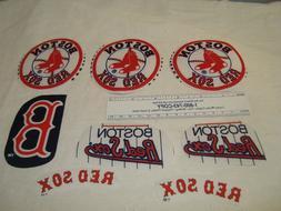 Boston Red Sox Baseball Cotton Fabric Iron-On Patches Emblem
