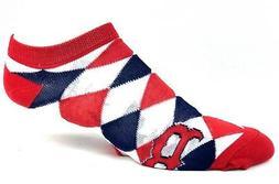 Boston Red Sox Baseball Ladies Diamond Ankle Socks Navy Red