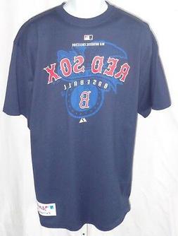 Boston Red Sox Baseball Short Sleeve T-shirt Blue Eagle Back
