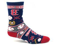 Boston Red Sox Super Fan Baseball Crew Socks