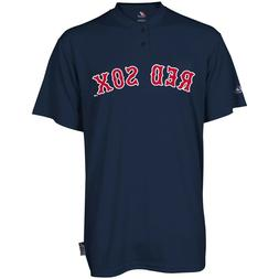Youth Medium Boston Red Sox Majestic Cool Base 2 Button MLB