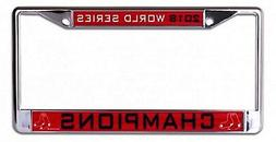 Boston Red Sox Champions BOLD Laser Frame Chrome Metal Licen