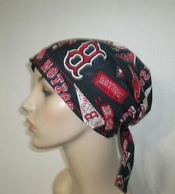 Boston Red Sox Chemo Hat Scrub  Cap Pediatric Nurses Hat