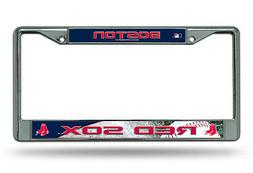 Boston Red Sox Chrome License Plate Frame