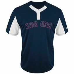 Boston Red Sox Majestic Color Block 2-Button Navy MLB Licens