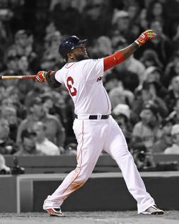 Boston Red Sox DAVID ORTIZ Glossy 8x10 Photo Spotlight Print