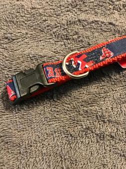 Boston Red Sox DOG PET COLLAR NYLON Small NWT HUNTER NEW LOG