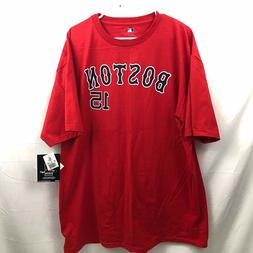 Boston Red Sox Dustin Pedroia #15 T Shirt Mens XL Red Short