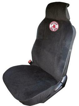 Boston Red Sox Embroidered Seat Cover  Car Auto MLB Black Tr