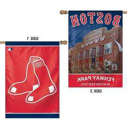 """BOSTON RED SOX FENWAY PARK 28""""X40"""" DOUBLE SIDED BANNER FLAG"""