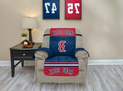 BOSTON RED SOX FURNITURE PROTECTOR COVER RECLINER REVERSIBLE
