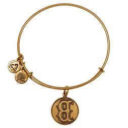 alex and ani boston red sox - gold logo bracelet with charm