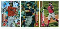 BOSTON RED SOX Gold Rainbow Foil Parallel 2020 Topps Series