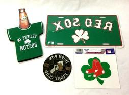 Boston Red Sox Irish Fight Club Shamrock Fan Pack Lot Sticke