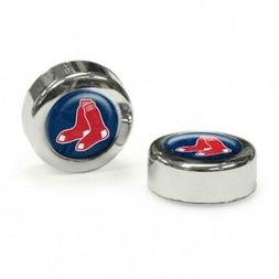 Boston Red Sox License Plate Domed Screw Cap 2 Pack  Frame T