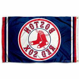 Boston Red Sox Logo 3x5 Banner Flag