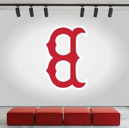 Boston Red Sox Logo Wall Decal Baseball Sport Sticker Room D
