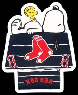 Boston Red Sox MAGNET custom Die Cut Snoopy Woodstock Baseba