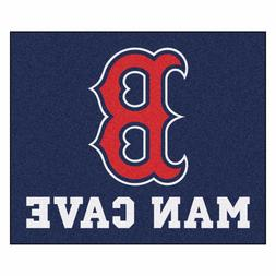 Boston Red Sox Man Cave 5' X 6' Tailgater Area Rug Floor Mat
